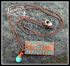 Copper/turquoise necklace
