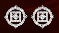Cartier Earrings in white gold with diamonds