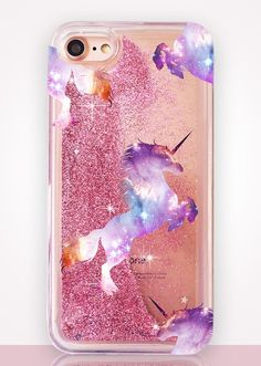 Unicorn Glitter Clear Phone Case http://amzn.to/2spd3Ru