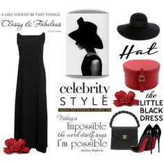 How To Wear The Little Black Dress & Hat Outfit Idea 2017 - Fashion Trends Ready To Wear For Plus Size, Curvy Women Over 20, 30, 40, 50