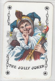 JOKER, JESTER, PLAYING CARD, LOT No. 37