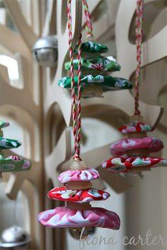 PINTEREST. FABRIC YO YO | fabric yo yos christmas tree fabric yo yos christmas tree decorations ...