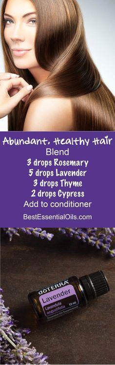 doTERRA Essential Oils for Abundant, Healthy Hair