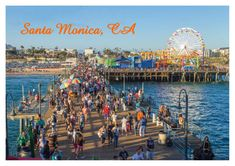 Santa Monica Pier, California, CA, Ferri- Buy Online in Germany at Desertcart Santa Monica, Pacific Coast Highway, Pacific Ocean, Disney California Adventure, Beach Adventure, Death Valley, Los Angeles With Kids, San Francisco, Hollywood Sign