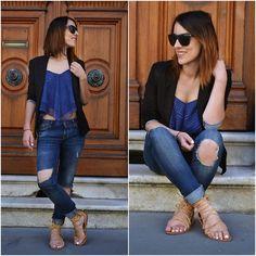 Zara Sandals, Blue Sandals, Zara Jeans, Jean Top, Zara Tops, Fashion Wear, Blue Lace, Overalls, Vest
