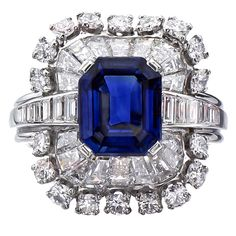 Tiffany & Co. ~ Authentic Natural Sapphire and Diamond Platinum Ring. Platinum Diamond Rings, Sapphire Diamond, Blue Sapphire, High Jewelry, Jewelry Rings, Jewelery, Wire Rings, Bling Jewelry, Jewelry Box