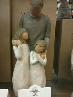 we could incorporate these into the centerpieces, don't we all have father daughter willow tree statues?