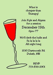 christmas holiday cocktail party invitations - Christmas Cocktail Party Invitations