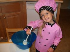 Child's Chef's Coat and Hat Sizes 6 by ANeedlePullingThread