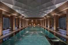 Inspired by the soaring arches of churches and mosques in the Andalucía region of Spain, the Spa at the Mandarin Oriental, Marrakech has incredible design as well as top-notch services. Read on for more of the best spas around the world. Casa Hotel, Hotel Pool, Luxury Hotel Design, Luxury Spa, Luxury Hotels, Indoor Swimming Pools, Swimming Pool Designs, Swimming Pool Parts, Luxury Swimming Pools