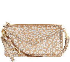 Convertible convenience, versatile style. The LODIS leather RFID pouch, with removable crossbody and wristlet straps, provides three chic ways to wear it and one smart way to stay stylishly secure. QVC.com