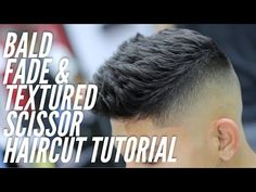 Barber Tutorial using Scissors on top with a Bald Fade on sides! Smart Hairstyles, Mens Hairstyles Fade, Popular Hairstyles, Fade Styles, Long Hair Styles, How To Fade, Hair Cutter, Faded Hair, Hair