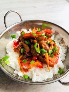 Crispy chilli pork czyli chrupiąca wieprzowina w ostrym sosie Kung Pao Chicken, Pork, Ethnic Recipes, Kale Stir Fry, Pork Chops