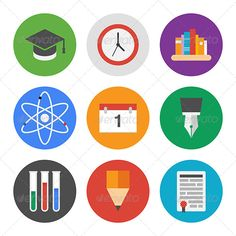 education_icons_modern_flat_design_learning_set_vector_illustration_pack_2_preview.jpg (590×590)