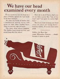 Schlitz advertisement 1965.  January 24, 1935 - Krueger Brewing Company placed the first canned beer on sale in Richmond, VA.