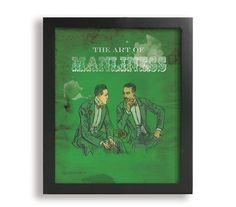 8x10 The Art of Manliness, Vintage Boy Art, Children's Art, Mustache Art Print on Etsy, $24.99