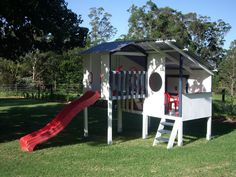 Triplex - This website has amazing cubby houses!!  My boy would love this... or something like it!