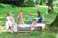 Party Holzkiste Picknick