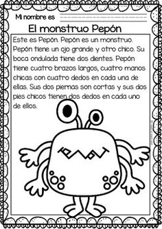 Easy-Reading-for-Reading-Comprehension-in-Spanish-special-edit-The-Monsters-2085771 Teaching Resources - TeachersPayTeachers.com