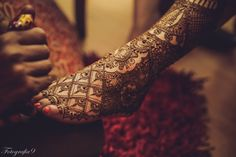 ♡♥ Henna on legs for Bridal