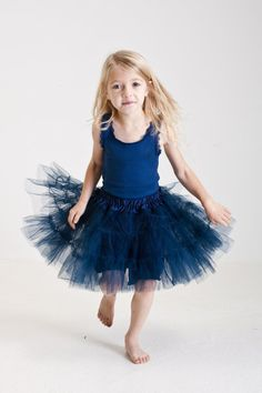 Navy blue tiered tutu - Petti Princess Pettiskirts Tutus