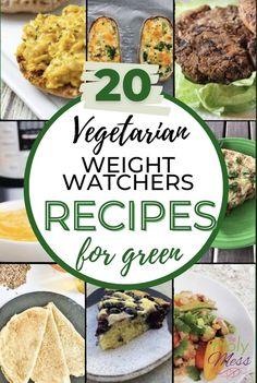 20 Vegetarian Weight Watchers Recipes for the Green plan. #vegetarianweightwatchers #greenweightwatchers #vegetairan #weightloss