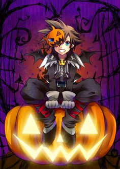Sora in Halloween Town. I love this way more than I should 〃 ̄ω ̄〃ゞ