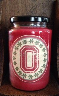 The Ohio State Buckeyes Candle Scented in by fireflycreekcandles, $16.00