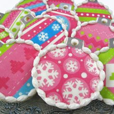 christmas cookie decorating ideas | For a cheery & bright holiday treat try our super cute Holiday ...