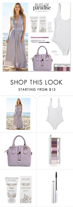 """""""Bliss of Paradise"""" by mycherryblossom ❤ liked on Polyvore featuring Clinique, Acure and Too Faced Cosmetics"""