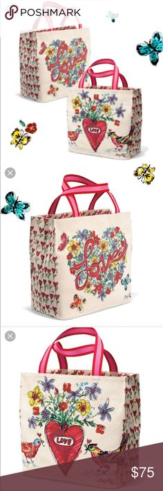 """Brighton Love Tweet Tote BNWT! The latest tote from Brighton- Love Tweet Tote ❤️ just in time for Valentine's Day! Measures 14.5"""" (h) x 15.5"""" (l) x 8"""" deep. Never taken out of the package! Additional stock photos were taken from the Brighton website. Brighton Bags Totes"""