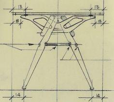 Zanotta REALE Table, homage to Carlo Mollino (1946)
