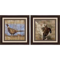 Hunting Duck 14 inch x 14 inch Wall Art, Brown