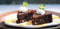 Brownies de lúcumas sin chocolate