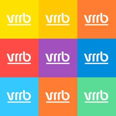 Love the different color combinations that bring this brand to life!    Vrrb by Jan Vranovský, via Behance