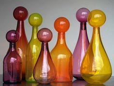 Glass Cylinders from The Artisan Collection curated by HOLLY HUNT | @HOLLY HUNT DESIGN