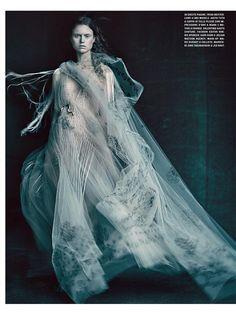 Frida Westerlund wears Valentino Haute Couture dress … Paolo Roversi (photo) … Robbie Spencer (style) … Shon (hair) … Marie Duhart (make-up) … Hiro (nails) … È ALTA MODA, Vogue Italia, March 2016…