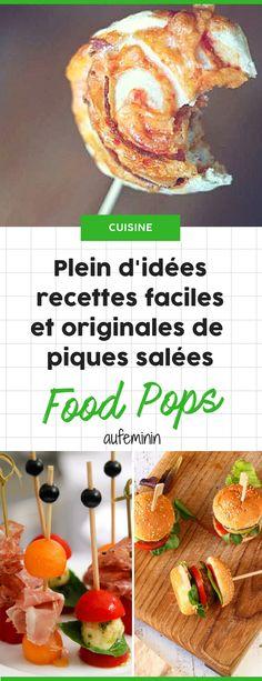 Food pops : nos recettes favorites de bouchées sur piques, telles des sucetets salées. Parfaites pour un apéritif dînatoire ! /// #aufeminin #apéritif #foodpop #brochette #mini