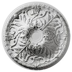 Ekena, 32-3/8 in. O.D. x 4-1/8 in. I.D. Tristan Ceiling Medallion, CM32TN at The Home Depot - Tablet