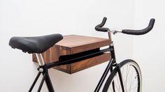 """Walnut Bike Shelf Approx 14"""" x 13"""" x 5"""""""