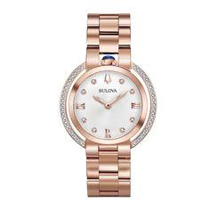 506ce8b0d9a Bulova Women s 98R248 Rubaiyat Rose-Gold Tone Watch. Pulseira De Aço  InoxidávelRelógios ...