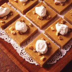~ Pumpkin Cheesecake Bars ~