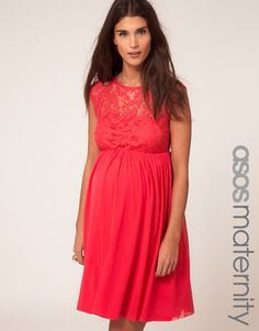 ASOS Maternity lace skater dress