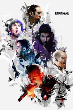 Linkin Park / Grunge in Motion by Vincent Rhafael Aseo, via Behance (Favorite Music)