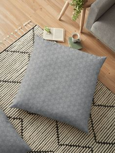 """Ultimate Gray #3"" Floor Pillow by Kettukas 