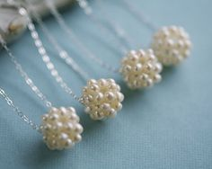 Bridesmaid gifts?  Pearl luster necklace