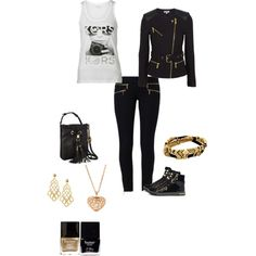 Mk black and gold outfit