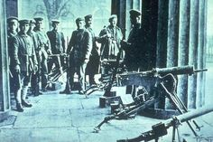 Soldiers During the German Revolution of 1918.