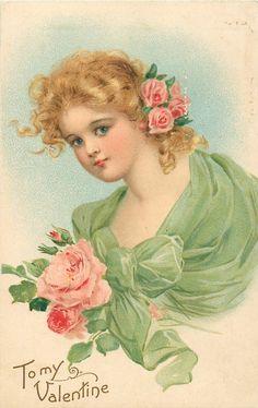 Винтажные открытки к дню святого Валентина -часть вторая