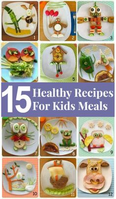 Some healthy AND adorable meals. ~*Mom*~  Here's our FB page: https://www.facebook.com/AllMommysFault